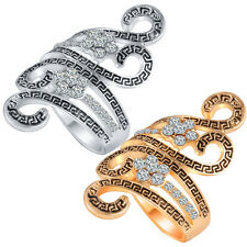 Women's Fashion Punk Ring Rhinestone Crystal Alloy Hollow Rings Jewelry Gift