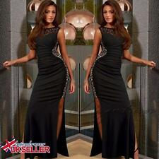 Women Cocktail Maxi Evening Ladies Bodycon Black Party Long Split Bandage Dress