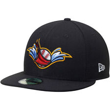 New Era Quad City River Bandits Black Alternate 1 Authentic 59FIFTY Fitted Hat