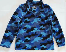 Boys Pull Over Fleece Top - Partial Zip- Blue Camo, Size 5/6 Jumping Beans NWOT