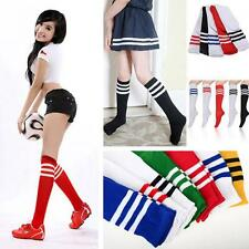 Men Football Sport Basketball High Soccer Socks Stripped Over Knee Ankle