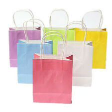 5pcs Colorful Kraft Paper Bags for Wedding Boutique Shopping Retail Package New