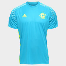 Flamengo Goalkeeper Blue Soccer Football Jersey Shirt - 2016  Adidas Brazil