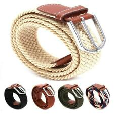 Hot! Women Men Lady Multi Color Elastic Leisure Joker Canvas Belts Wide Belt Y