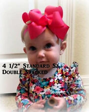 Boutique Hairbow, Girls Hair Bows, Double Hair Bows, Big Bows, Lot Set of 6 bows