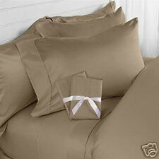 TAUPE SOLID BED SHEET SET 800 TC 100% EGYPTIAN COTTON SELECT YOUR SIZE