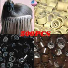 Silicone Micro Link Rings Beads Feather for Stick I-Tip Hair Extensions SALE US4