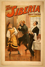 Photo Print Vintage Poster: Stage Theatre Flyer The New Siberia 01 1