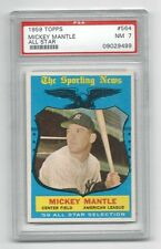 1959 Topps * Mickey Mantle * All-Star * NY Yankees * #564 * PSA 7  Near Mint