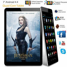 "7"" Inch Android Tablet 8GB Quad Core 4.4 Dual Camera Bluetooth WiFi Tablet PC US"