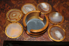 Super Beautiful Excellent Natural Agate Coaster Set 7 pieces