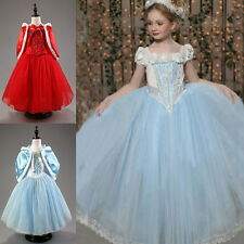 Cinderella Girls Princess Costume Fairytale Fancy Dress Up Party Cosplay Outfits