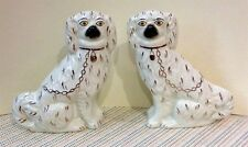 Antique Pair of Staffordshire 7 ½ inch Spaniels