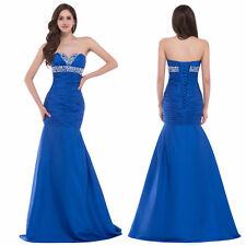 Sexy Mermaid Formal Wedding Bridesmaid Prom Ball Gown Evening Pageant Dress 2-16