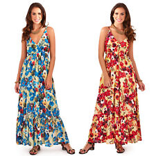 Pistachio Womens Strappy Plunge V Neck Floral Print New Ladies Maxi Dress