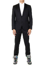 MARTIN MARGIELA MM14 Men Black Slim Fit Pinstriped Suit Made in Italy New