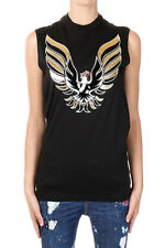 DSQUARED2 New Woman Black COOL TWISTED Sleeveless T-shirt Top Made in Italy