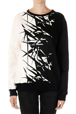 GARETH PUGH Woman Printed Cotton BOYFRIEND JUMPER FRACTURED Sweater Made  Italy