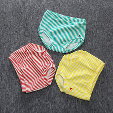 Baby Boys Girls Cotton Bottoms Toddler New Striped Bloomer Clothes Nappy Panties