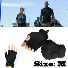 Warm Half Finger Gloves Tactical Military Airsoft Adjustable Protective Glove
