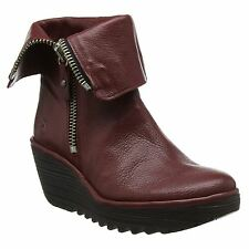 Fly London Yex668Fly Wedge Red Womens Boots