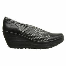 Fly London Yema685Fly Wedge Black Womens Shoes