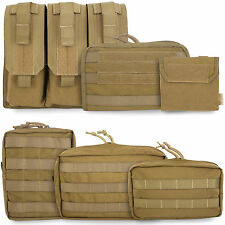 Bulldog Tactical Military Army Cadet Airsoft Modular MOLLE Pouches Coyote Tan