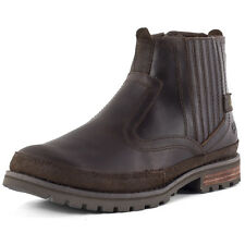 Caterpillar Rivingston Mens Chelsea Boots Dark Brown New Shoes