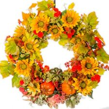 Sunflowers, Gourds and Berry Wreath (FW931)