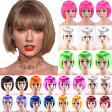 Sexy Synthetic Hair Wig Short BOB Full Head Wigs Cosplay Party Dress Thick BM#