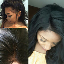 Wholesale Silky Straight Lace Front/Silk Top Full Wig Remy Human Hair Wig Wavy @