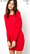 ASOS Red Mini Dress with Batwing Sleeves UK 4/ XS