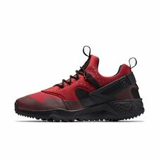 NIKE AIR HUARACHE UTILITY MENS TRAINER SHOE SIZE 10 GYM RED BLACK  RRP £100