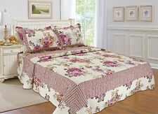 88- All For You 3PC quilt set, bedspread and coverlet with Floral Prints
