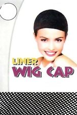 New Wig Cap Mesh Weaving Breathable Stretchable Stocking Hair Liner Unisex Black