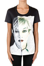 CHRISTOPHER MAKOS PORTS New Woman Black Printed tee T-shirt NWT