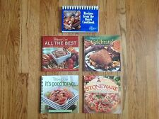 Lot of 5 PAMPERED CHEF Cookbooks ~ All the Best, Celebrate, Good for You & More!