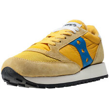 Saucony Jazz Original Vintage Womens Trainers Yellow Navy New Shoes