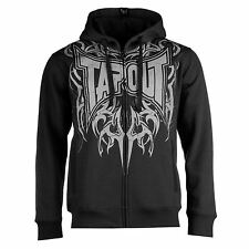 Tapout Logo Full Zip Hoody Mens Black Sweatshirt Sweater Hooded Jacket