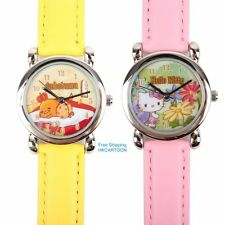 JAPAN SANRIO HELLO KITTY GUDETAMA PU BAND CHILD WATCH STUDENT WATCH