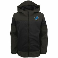 Detroit Lions Youth Black Lightweight All Element Full-Zip Hooded Jacket