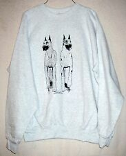 GREAT DANE [Cropped Ears]  Coming&Going Hanes Sweatshirt / Unisex Size Large