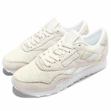 Reebok CL Nylon Sail Away Beige White Suede Women Casual Shoes Sneakers BD3377