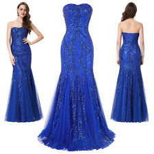 Long Mermaid Evening Bridesmaid Dress Prom Formal Party Ball Celebrity Ball Gown
