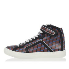 PIERRE HARDY New man BLack Leather Sneakers canvas CUBE Shoes Made Portugal