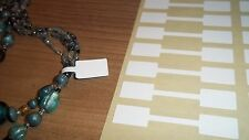 EXTRA STRONG White Jewellery Price Stickers 10 x 54mm Labels / Tags / Dumbells