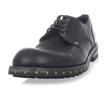 DOLCE&GABBANA New Men Black Leather SAN PIETRO Derby shoes Made Italy