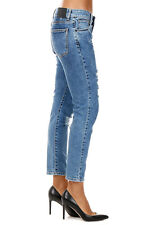 UP JEANS New woman blue Destroyed Stretch Denim Jeans Pants Made in Italy NWT