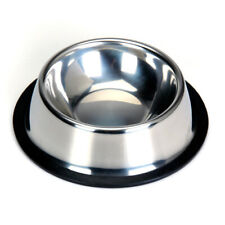 Non Slip Stainless Steel Cat Puppy Dog Pet Bowl Dish Water Food Feeding PICK