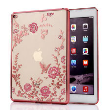 Luxury Crystal Diamond Clear Silicone TPU Plating Case Cover for iPad 5 6 Air 2